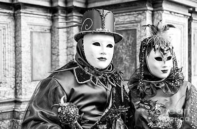 Photograph - Carnival Couple In Venice by John Rizzuto