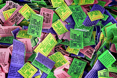 Photograph - Carnival Ride Tickets by Todd Klassy