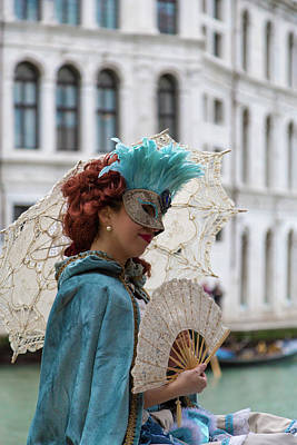 Photograph - Carnival Scene - Venice by Georgia Fowler