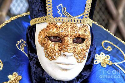 Photograph - Carnival Stare In Venezia by John Rizzuto