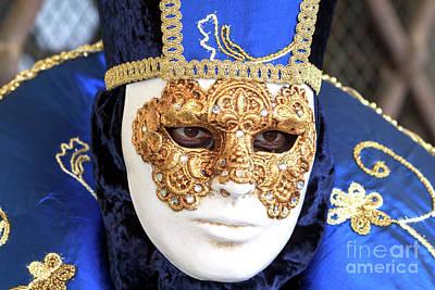 Photograph - Carnival Stare In Venice by John Rizzuto