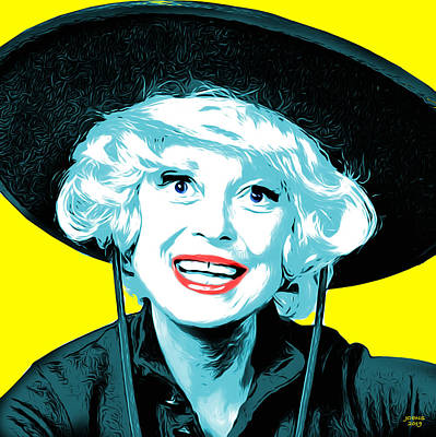 Pop Art Royalty-Free and Rights-Managed Images - Carol Channing by Greg Joens