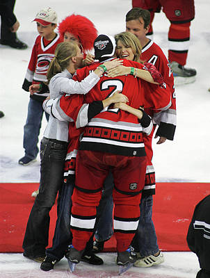 Stanley Cup Playoffs Photograph - Carolina Hurricanes Stanley Cup by Bruce Bennett