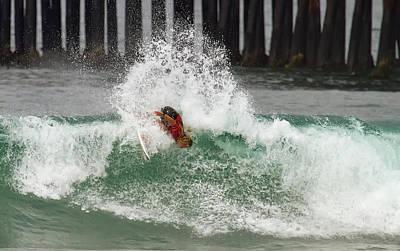 Photograph - Caroline Marks Surfing by Waterdancer