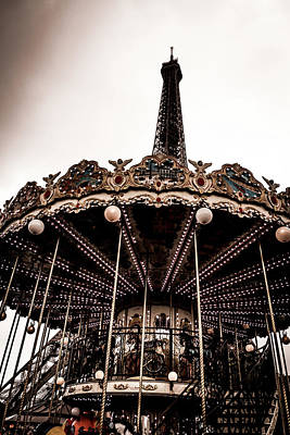 Photograph - Carousel By The Eiffel Tower by Georgia Fowler