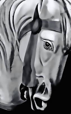 Photograph - Carousel Horse by Bill Jonscher
