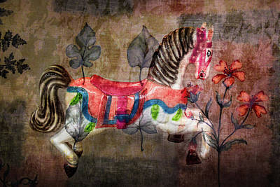 Photograph - Carousel Prancing Dream by Michael Arend