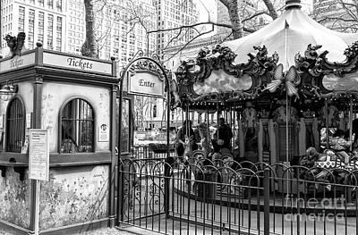 Photograph - Carousel Tickets New York City by John Rizzuto