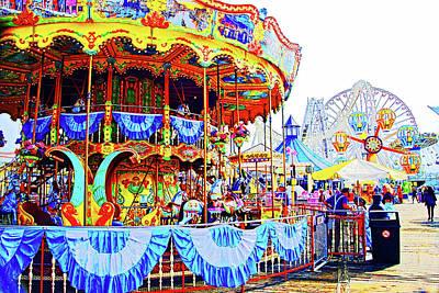 Photograph - Carousel, Wildwood, Nj by Bill Jonscher