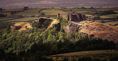 Elliott Coleman Royalty-Free and Rights-Managed Images - Carreg Cennen Castle by Elliott Coleman