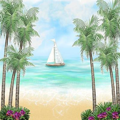Painting - Carribean Bay by Kelly Dallas