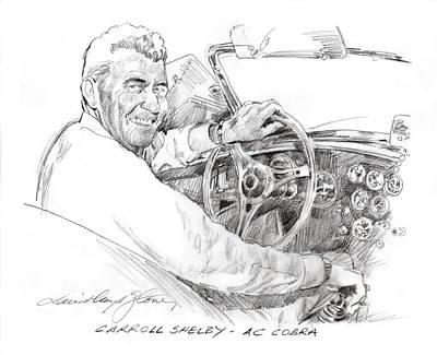 Sports Paintings - Carroll Shelby, Ac Cobra by David Lloyd Glover