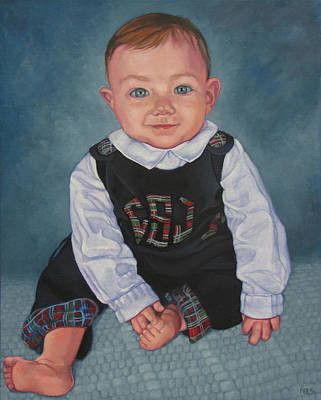Painting - Carson Seated by Rebecca Ives