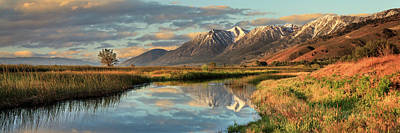 Photograph - Carson Valley Sunrise Panorama by James Eddy