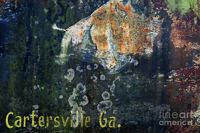 Photograph - Cartersville Georgia Bull Logo by Doug Sturgess