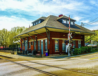 Photograph - Cartersville Train Depot by Nick Zelinsky