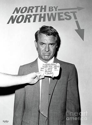 Johnny Carson Wall Art - Mixed Media - Cary Grant, Screen Test, Wardrobe Test, North By Northwest, Hair Mussed And Drunk by Thomas Pollart