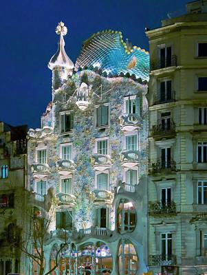 Photograph - Casa Batllo. Barcelona. Spain by Luis Castaneda Inc.