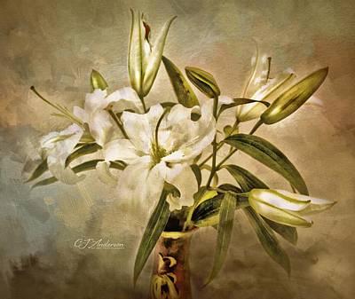 City Scenes - Casa Blanca Lilies by CJ Anderson