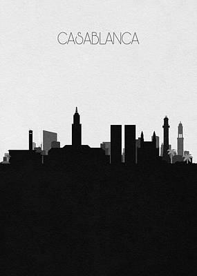 Digital Art - Casablanca Cityscape Art by Inspirowl Design