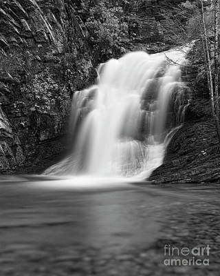 Photograph - Cascade 1 Bw by Patrick M Lynch