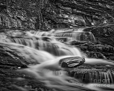 Photograph - Cascade 2 Bw by Patrick M Lynch