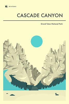 Teton Digital Art - Cascade Canyon 1 by Jazzberry Blue