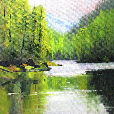 Painting - Cascade River by Nancy Merkle