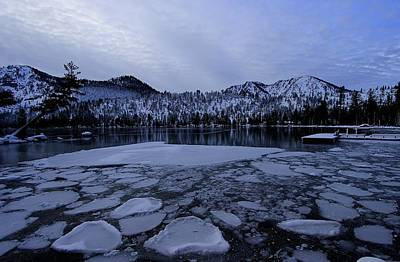 Photograph - Cascade Twilight Ice Flow by Sean Sarsfield