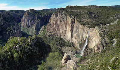 Photograph - Cascades De Basaseachi Panorama by Jeff Brunton