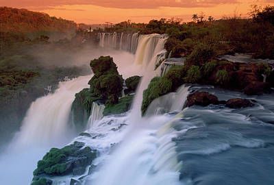 Cascades Of The Iguacu Falls, The Art Print by Thomas Marent/ Minden Pictures