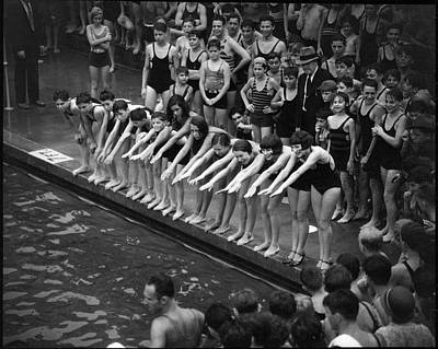 The Bronx Photograph - Cascades Pool, Jerome Ave. & 169th by The New York Historical Society