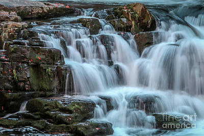 Photograph - Cascading Mountain Falls by Tom Claud