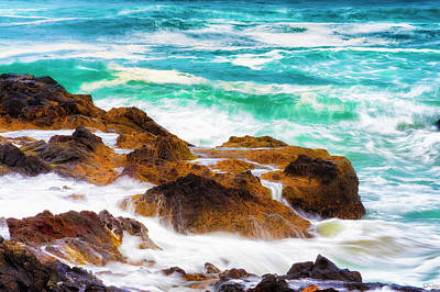 Photograph - Cascading Ocean Waters by Dee Browning