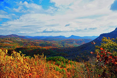Photograph - Cashiers Overlook Fall by Meta Gatschenberger