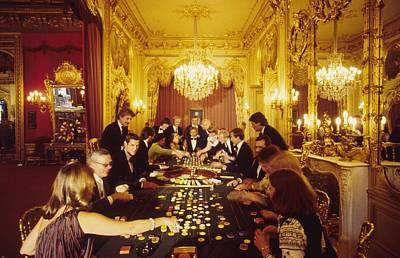 Indoors Photograph - Casino Life by Slim Aarons