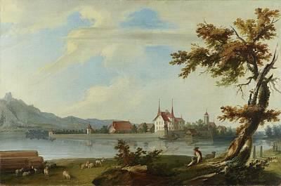 Animals Paintings - Caspar Wolf - Island Schadau by Caspar Wolf