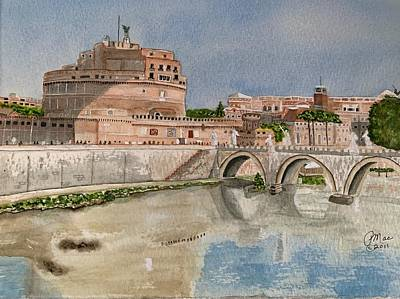 Painting - Castel Sant'Angelo by Peggy M McAloon