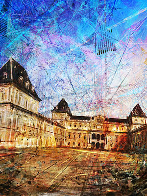 Surrealism Digital Art - Castello del Valentino by Andrea Gatti