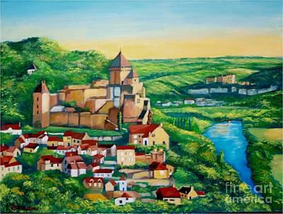 Painting - Castelnaud Castle, France by Jean Pierre Bergoeing