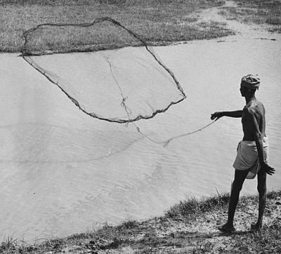 Indian Culture Photograph - Casting Net by Richard Harrington