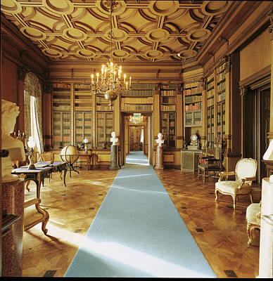 Bookshelf Painting - Castle And Park Of Miramare, Trieste by Mondadori Portfolio