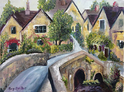 Fantasy Painting - Castle Combe by Roxy Rich