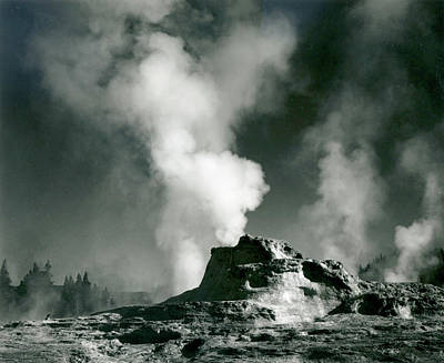 Photograph - Castle Geyser Coye, Yellowstone by Archive Photos
