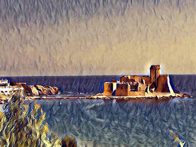 Digital Art - Castle In Sea by Lucia Sirna