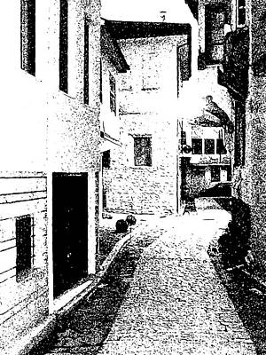 Digital Art - Alley In The Castle Of Ioannina by Nicholas V K