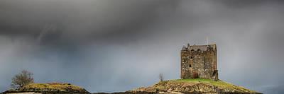 Photograph - Castle Stalker Downpour by Grant Glendinning