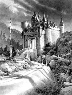 Fantasy Drawings - Castle Storming by Dan Nelson