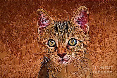 Painting - Cat A18-34 by Ray Shrewsberry
