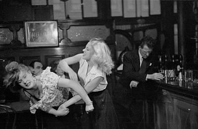 Pub Photograph - Cat Fight by Bert Hardy